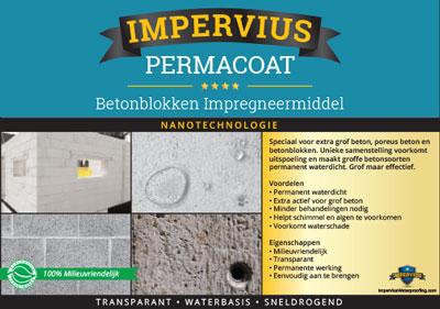 Impervius Permacoat - betonblokken impregneermiddel
