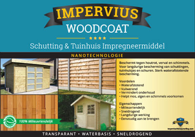 Impervius WoodCoat - Schutting en tuinhuis impregneermiddel